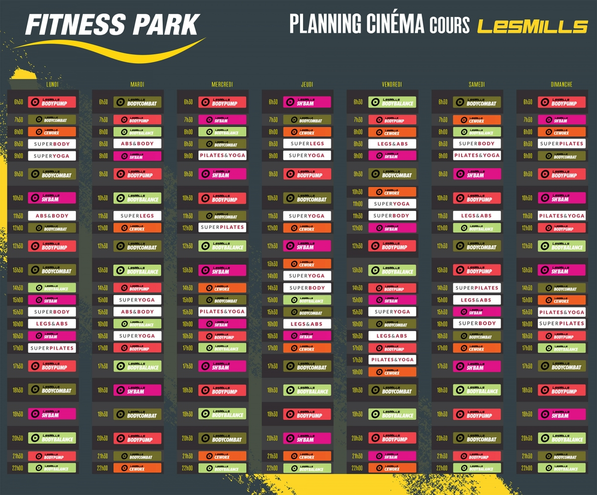 programme fitness cabri s plan de campagne planning fitness park. Black Bedroom Furniture Sets. Home Design Ideas